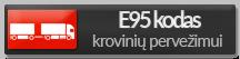 E95 kodas krovinių pervežimui